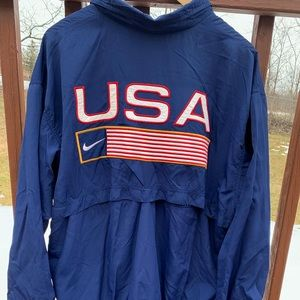 Vintage Nike USA Full Zip Navy Mens XL